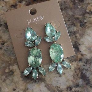 Beautiful light blue crystal j crew earrings